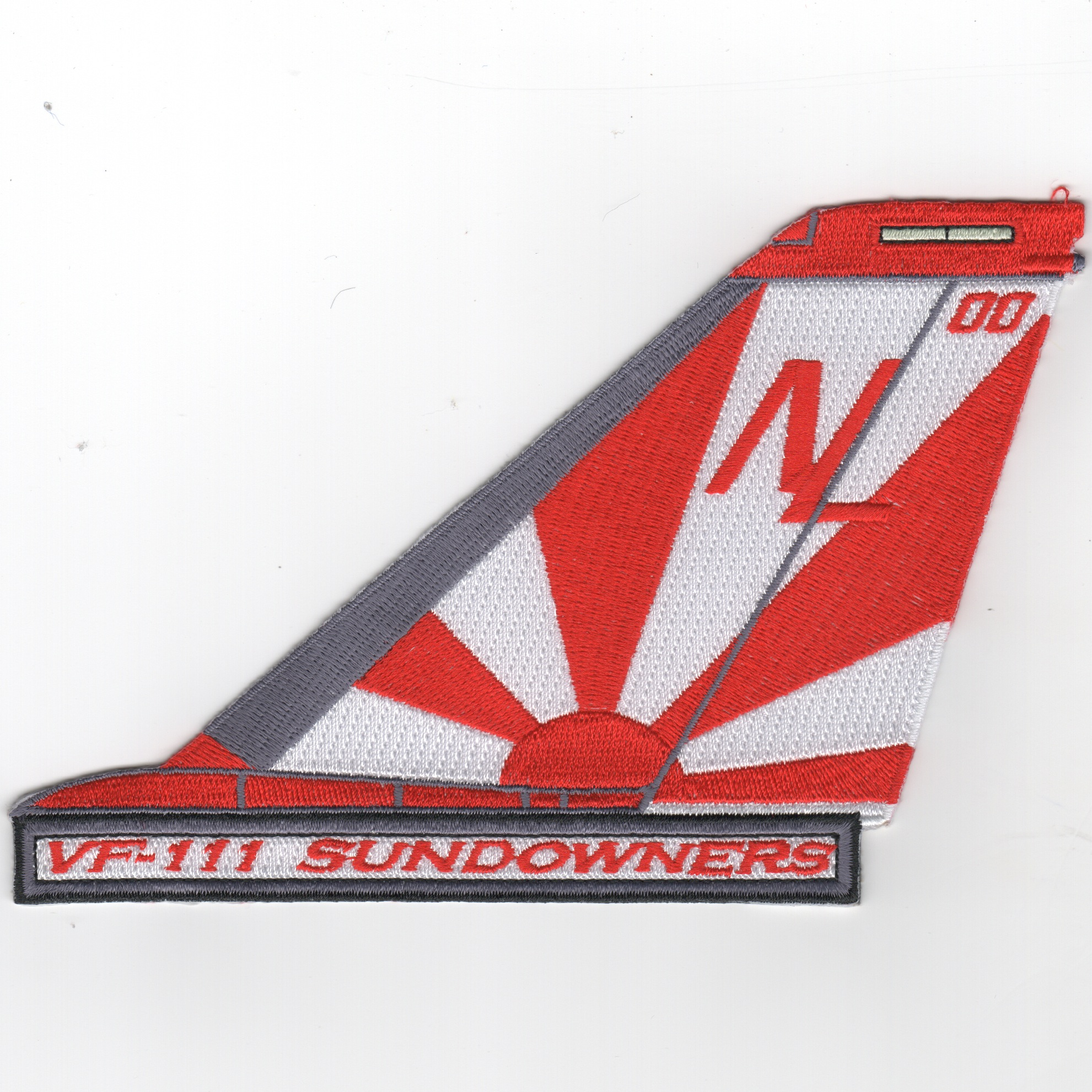 VF-111 F-14 Tailfin (Text/Red-White)