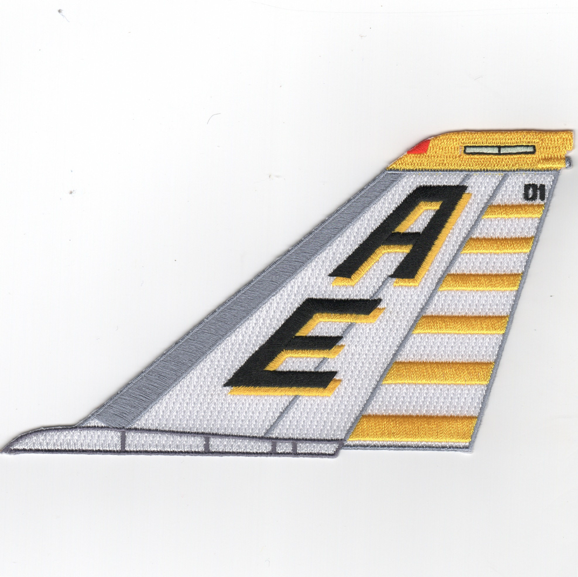 VF-142 F-14 Tailfin (No Text/Ylw-Wht)