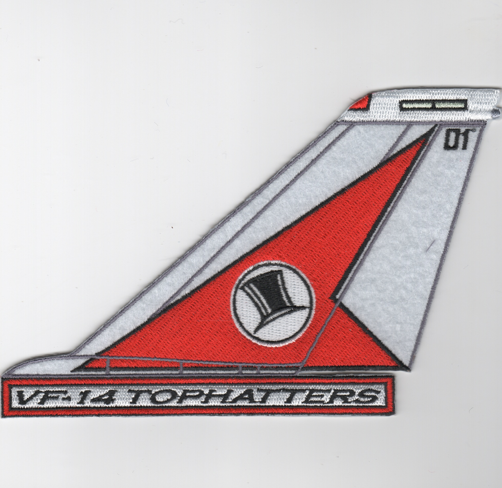VF-14 F-14 Tomcat Tail Fin (Red/White/Text)