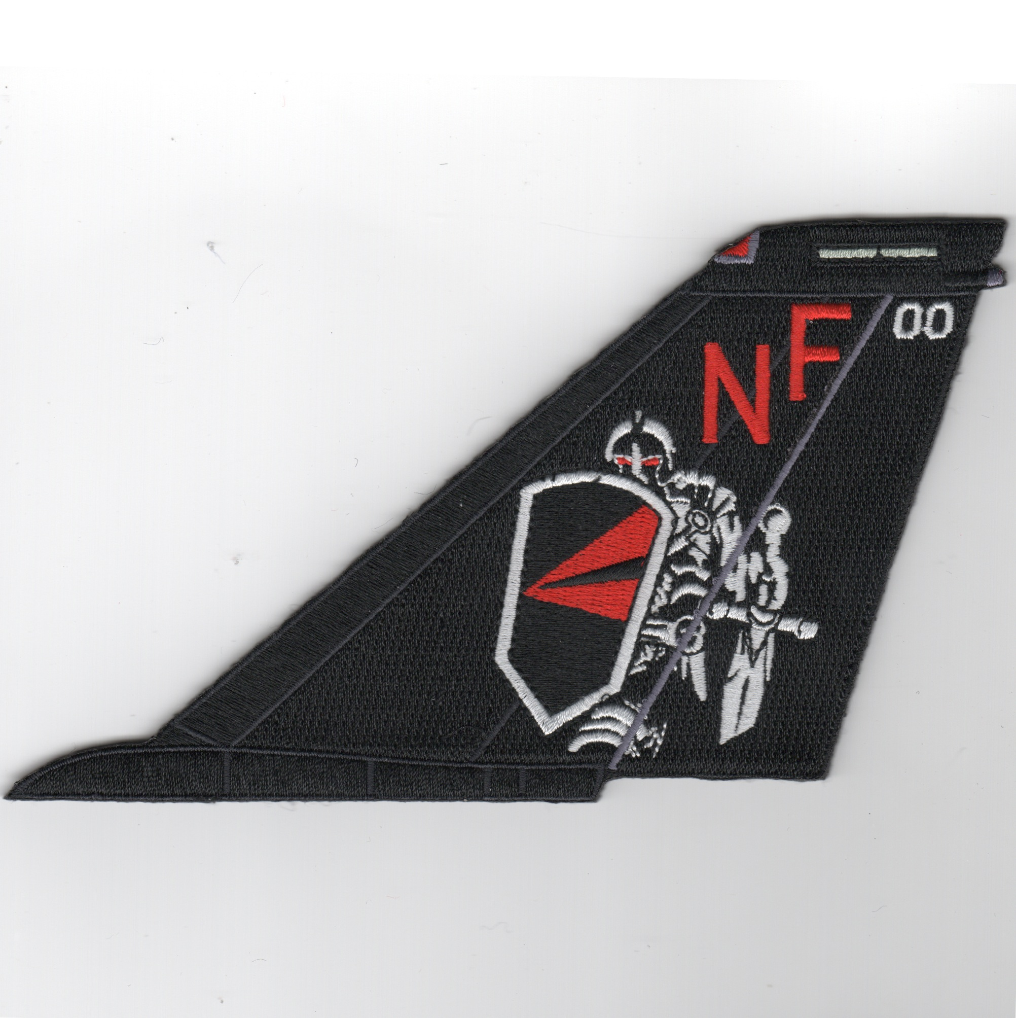 VF-154 F-14 Tailfin (Black/NF/No Text)