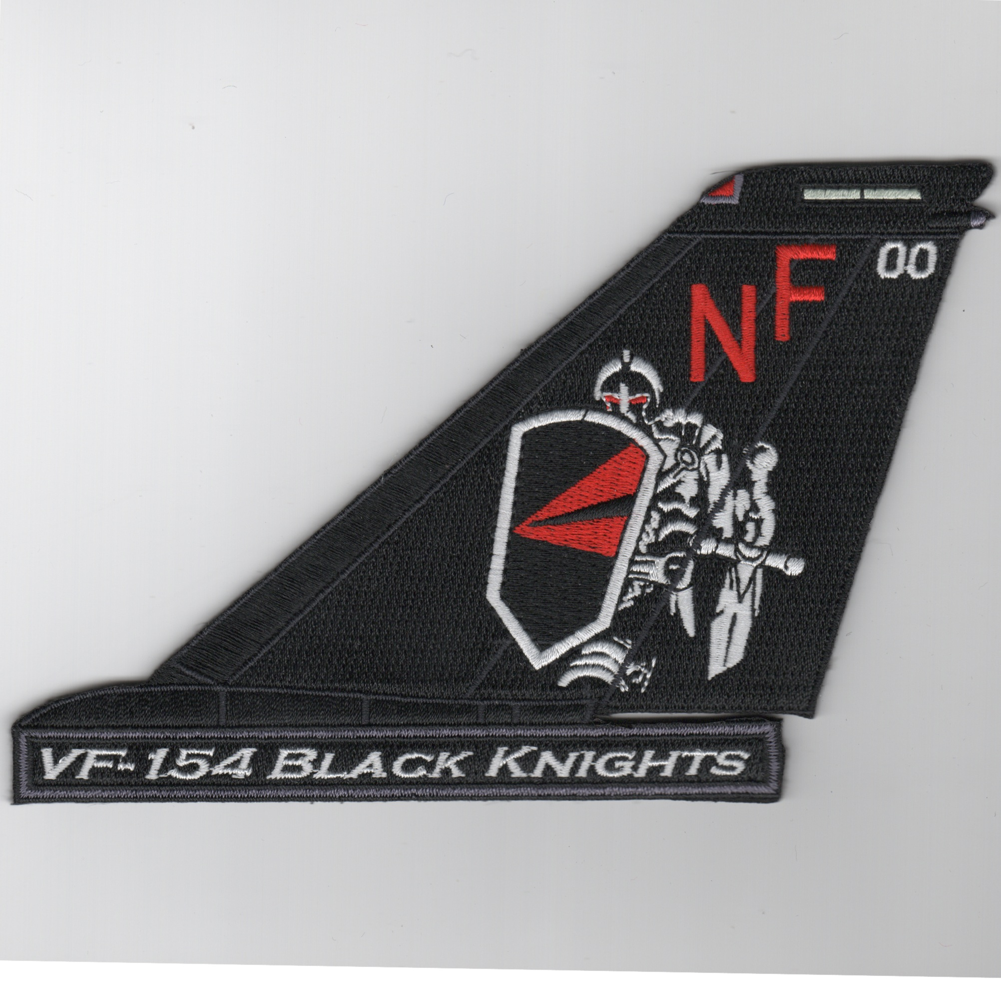 VF-154 F-14 Tailfin (Black/NF/Text)