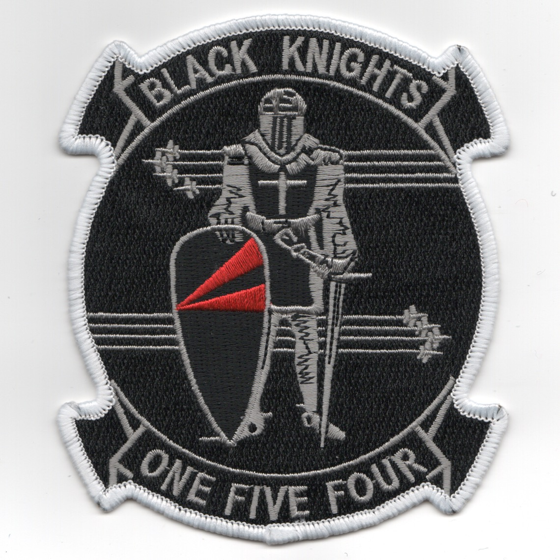 VF-154 Squadron Patch (White on Gray)