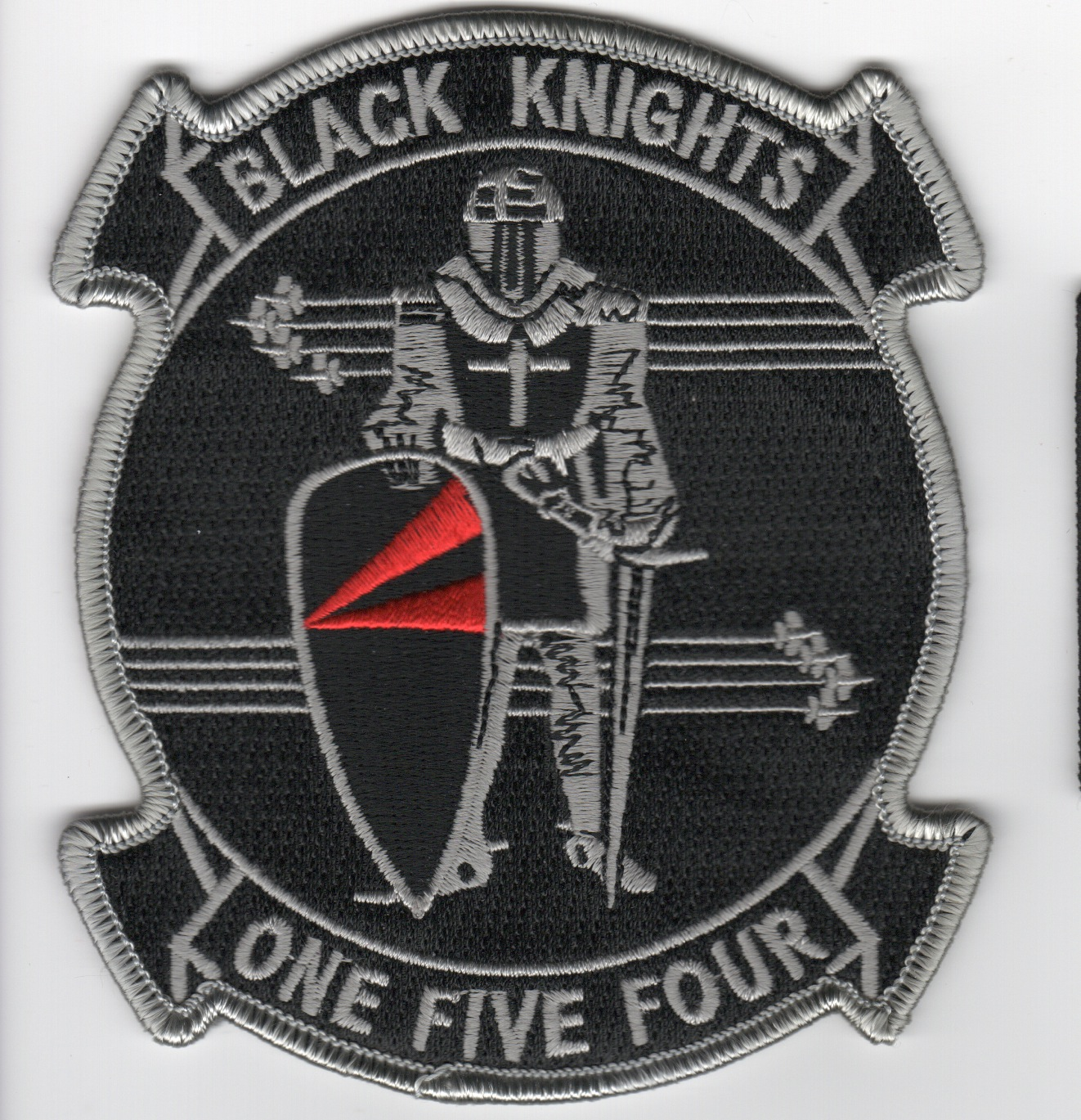 VF-154 Squadron Patch (Gray on Gray)