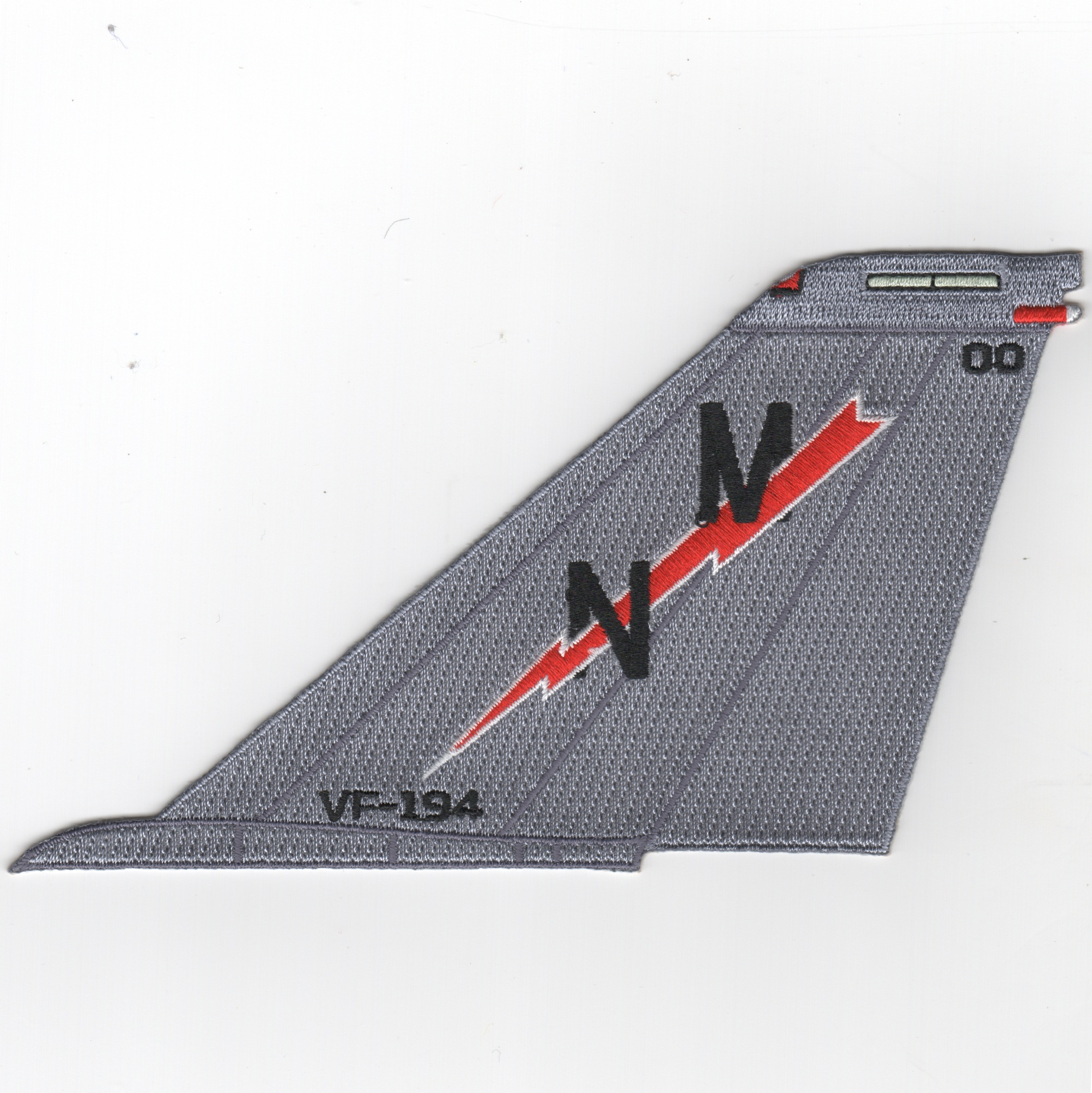 VF-194 F-14 Tailfin (No Text/Red Lightning)