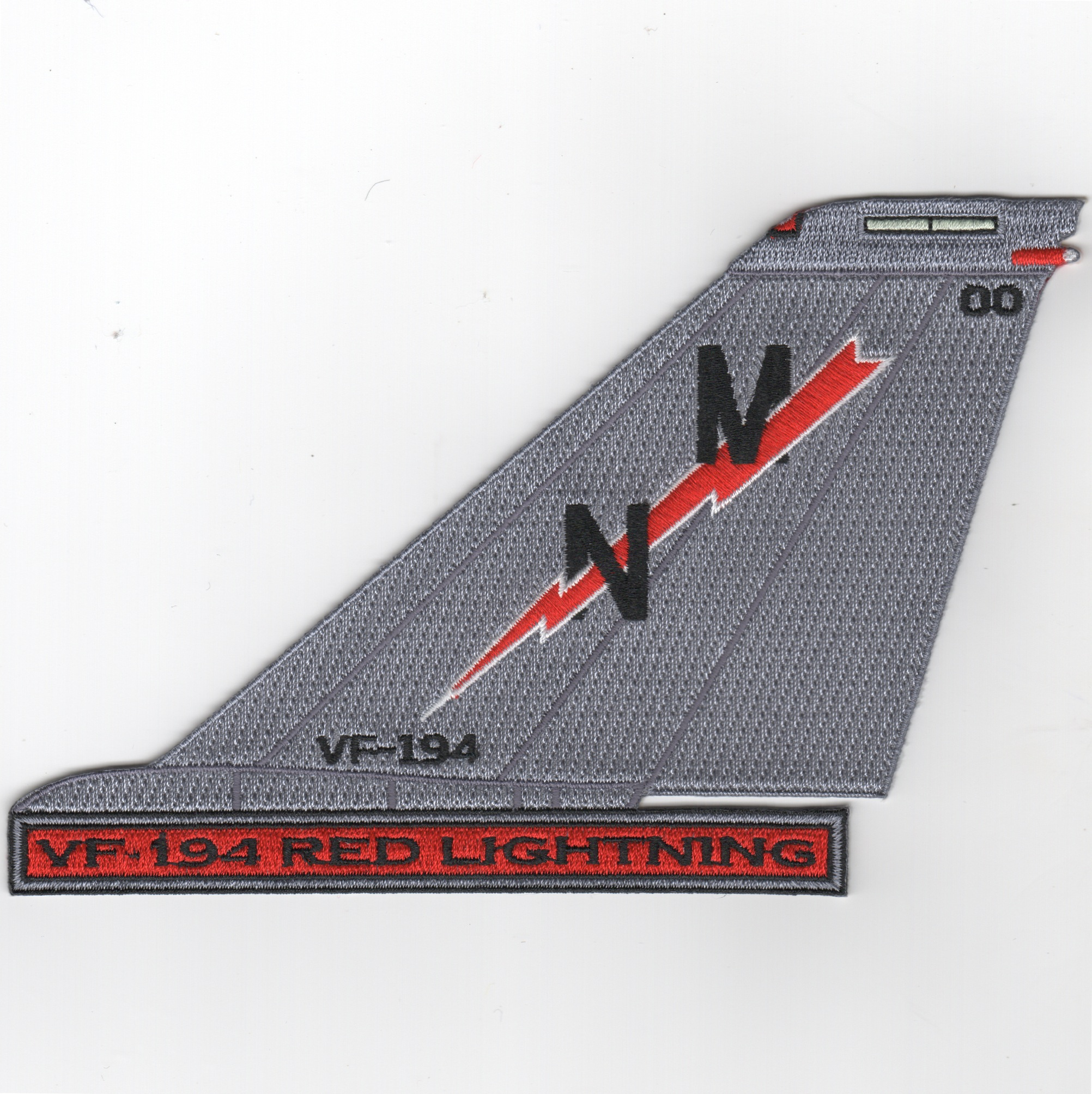 VF-194 F-14 Tailfin (Text/Red Lightning)