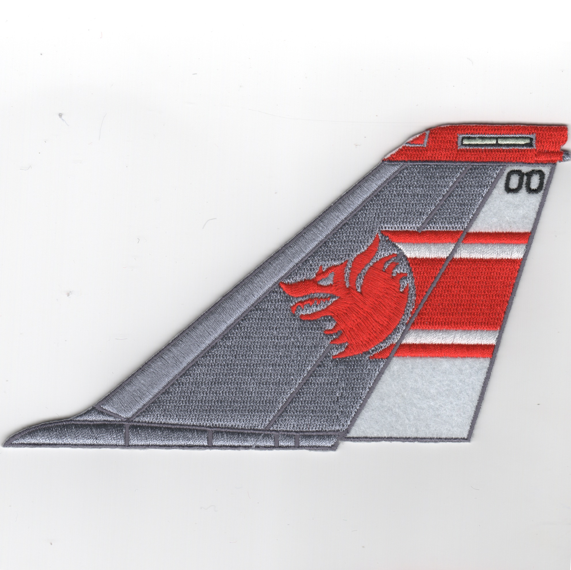 VF-1 F-14 Tomcat Tail Fin (Red/White/No Text)