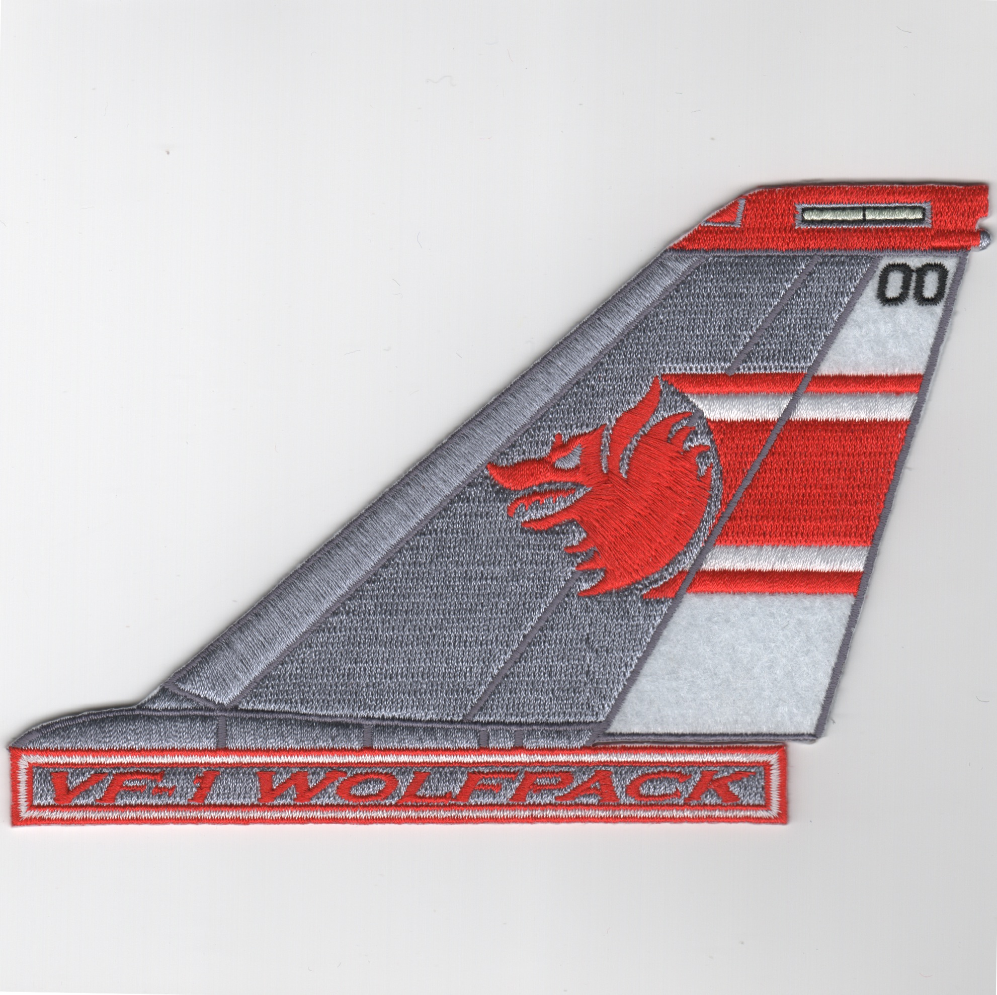 VF-1 F-14 Tomcat Tail Fin (Red/White/Text)
