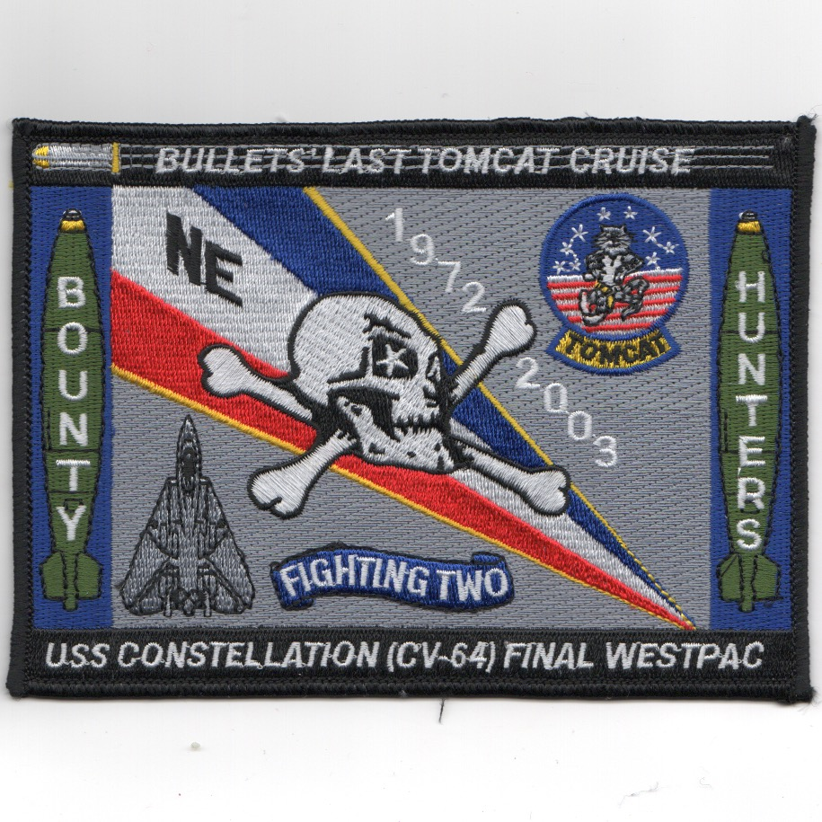 VF-2/CV-64 2003 'Last Tomcat' Cruise Patch (Lg/Rect)