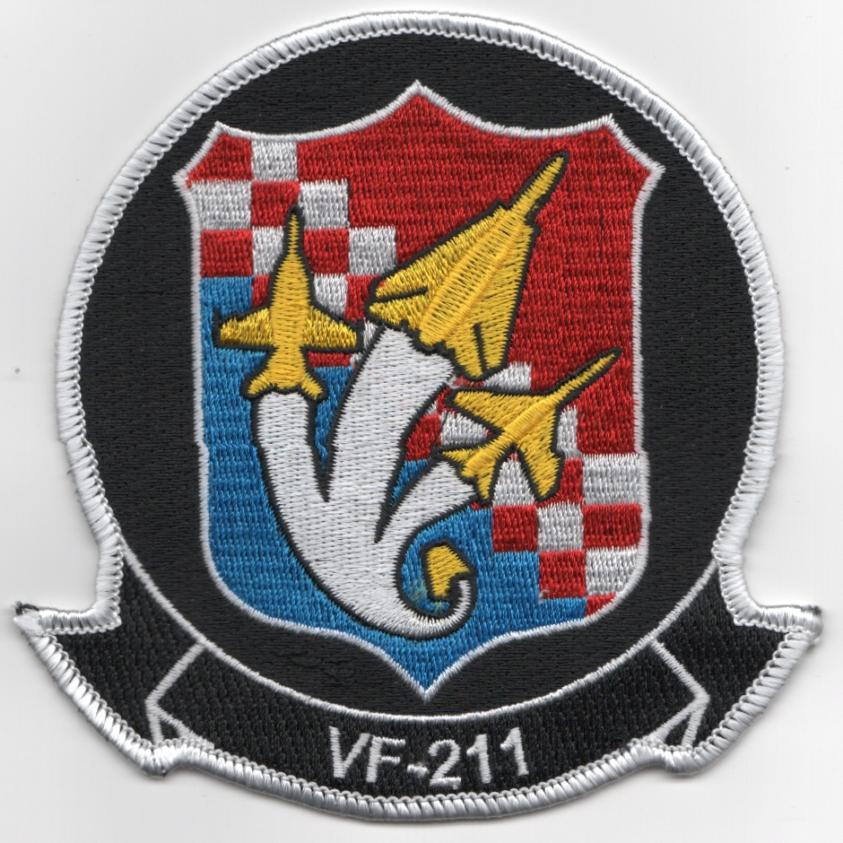 VF-211 'F-18/F-14/F-8' Patch (Yellow A/C)
