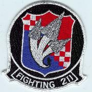 VF-211 '3-Tomcats' Patch (Black)
