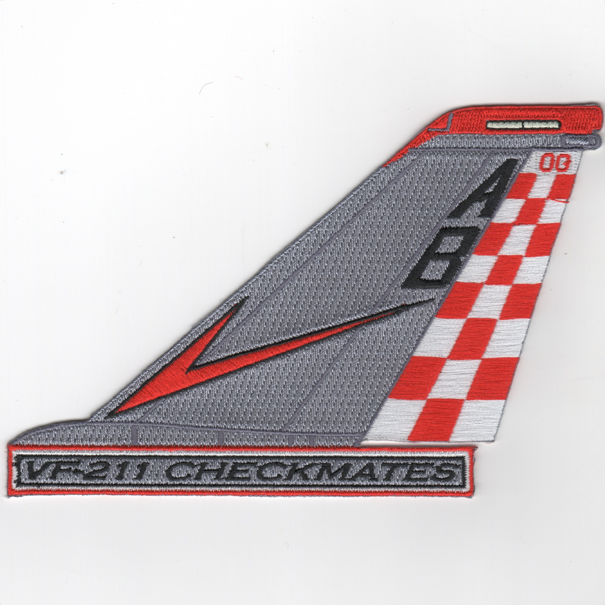 VF-211 F-14 Tailfin (Text/Chevron)