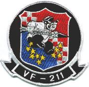 VF-211 Squadron Patch (Black)