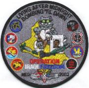 CVN-71/VF-213 'Bomb Til Dawn' OIF Cruise Patch (Gray/Round)