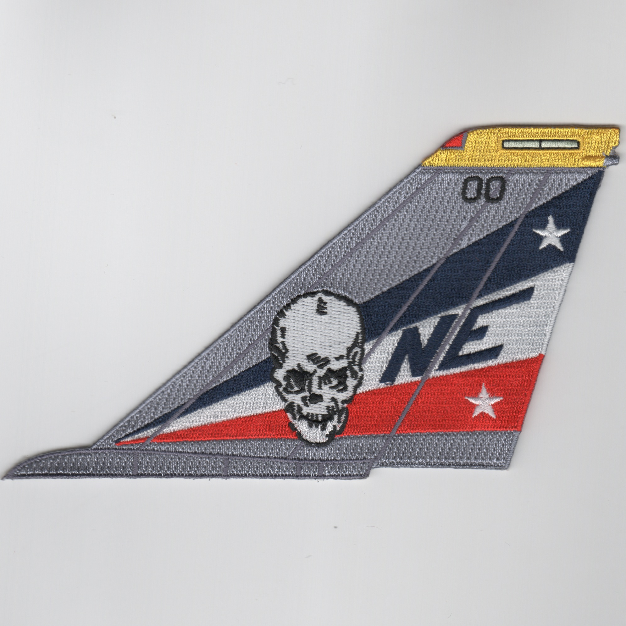 VF-2 F-14 Tomcat Tail (R/W/B-Skull-No Text)