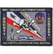VF-2/CV-64 'Last Tomcat' Cruise Patch (Lg/Rect)