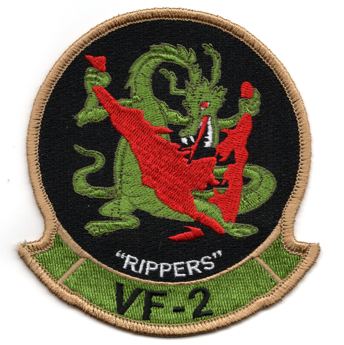 VF-2 'RIPPERS' Squadron Patch (RED Flag)