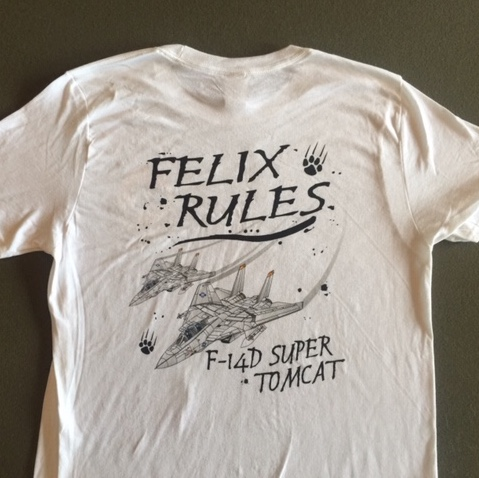 VF-31 'FELIX RULES' T-shirt (White)