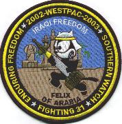 CVN-72/VF-31 2002/2003 OIF/OEF/OSW 'Felix of Arabia' Cruise Patch