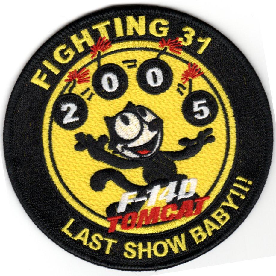 VF-31 'Last Show, Baby' Patch