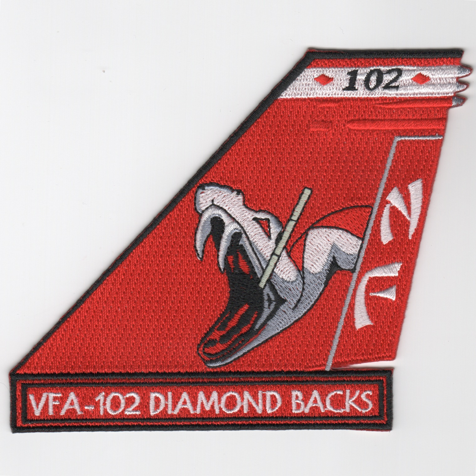 VFA-102 TAILFIN Patch (Snakehead/Red)