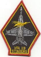 VFA-113 Aircraft Patch (Black)