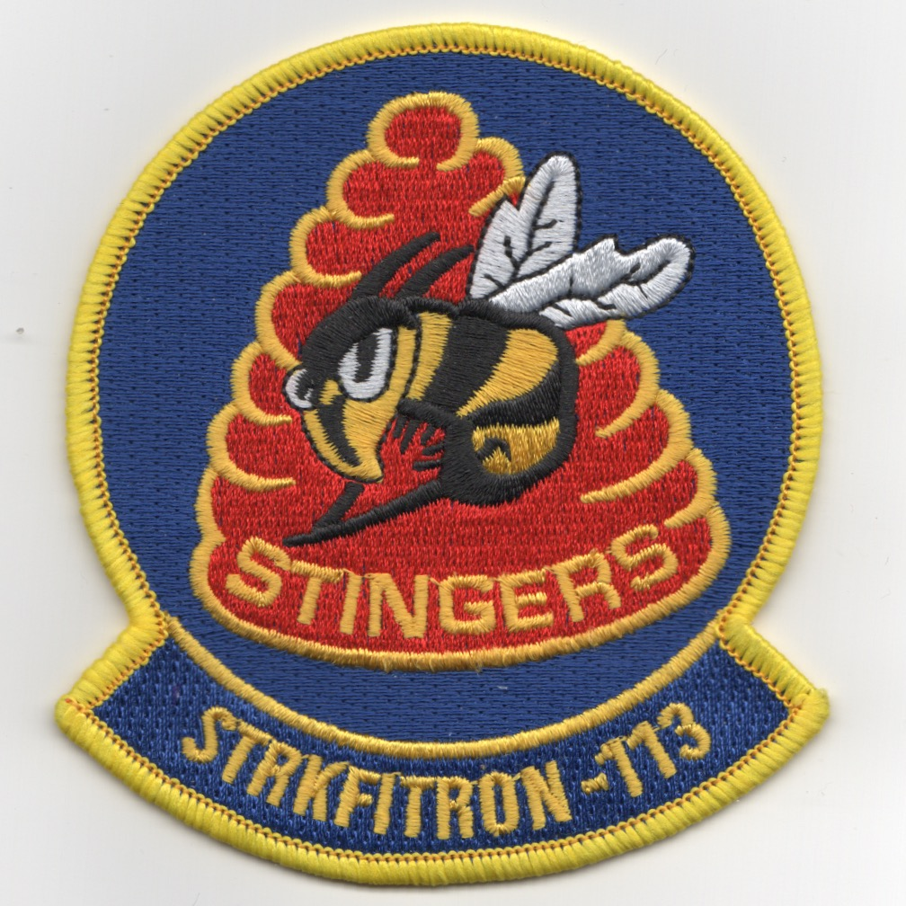 VFA-113 Squadron Patch (Yellow-Bordered HIVE)