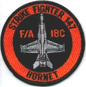 VFA-147 Hornet Aircraft Patch (Black)