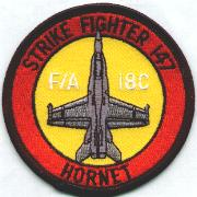 VFA-147 Aircraft Patch (Yellow)