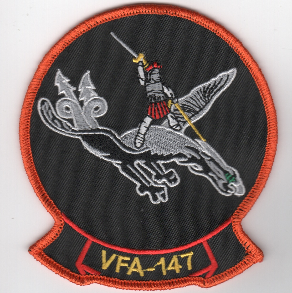 VFA-147 Sqdn Patch (Gray Man/Gray Dragon)