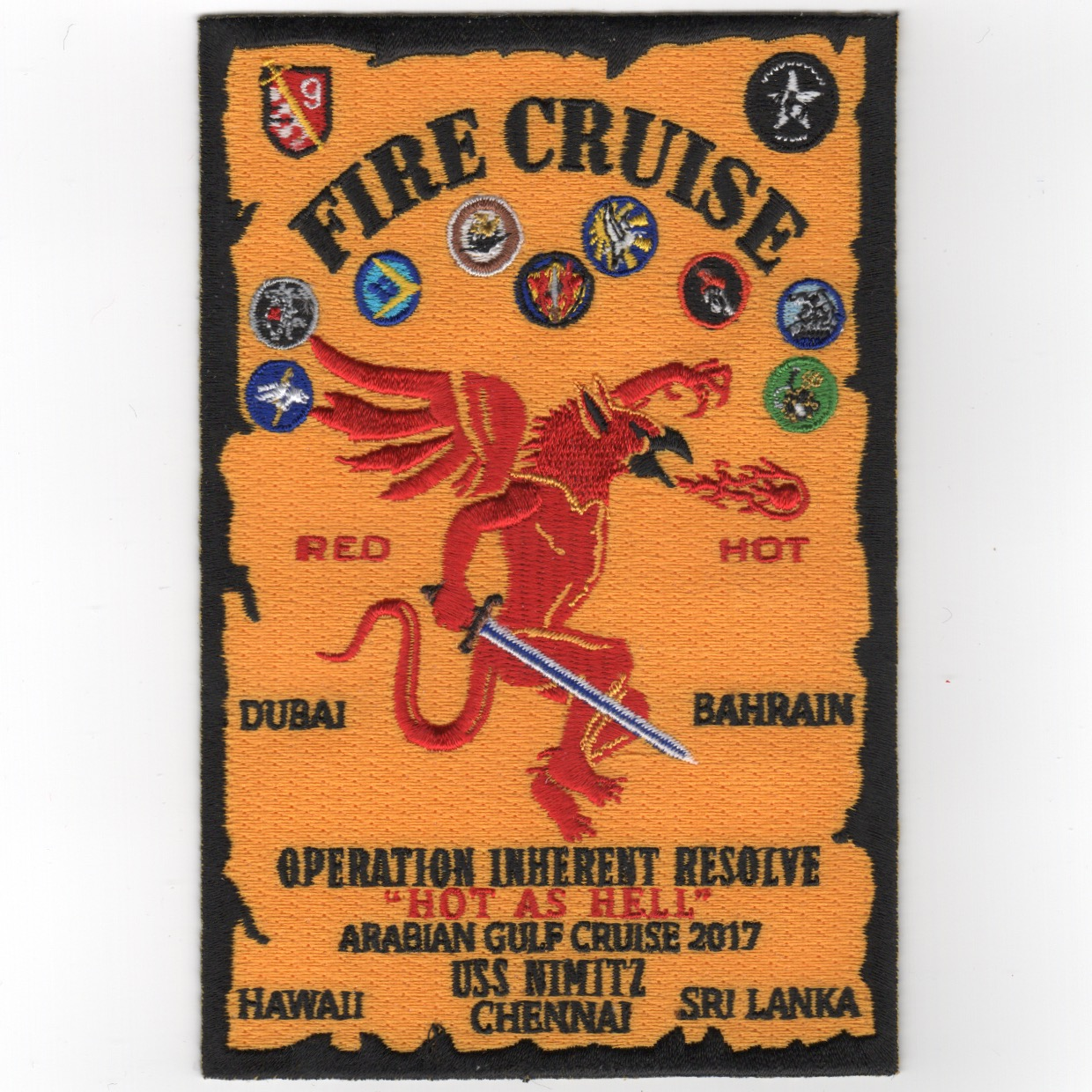 VFA-154/CVN-68 'FIRE CRUISE' Patch (Yellow)