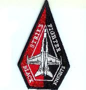VFA-154 Aircraft Triangle (1/2 Red, 1/2 Black)