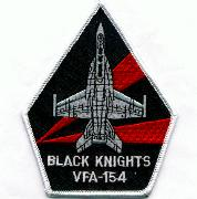 VFA-154 Aircraft Triangle (Black w/2 Red Rays)