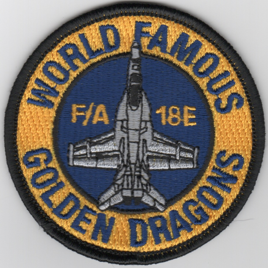 VFA-192 A/C 'Bullet' WFGD Patch (Blue/Ylw)