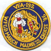 VFA-192 March Madness Cruise Patch '96