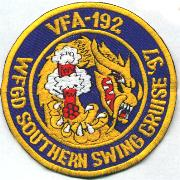 VFA-192 Southern Swing Cruise Patch '97