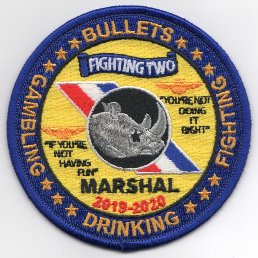 VFA-2 'MARSHAL' Patch (Black Letters)