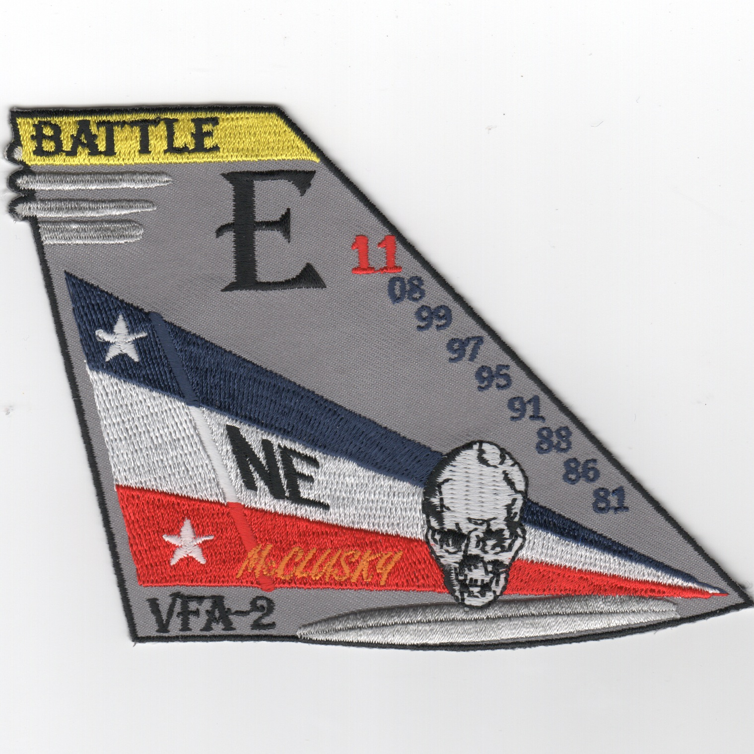 VFA-2 2011 Battle 'E' TailFin