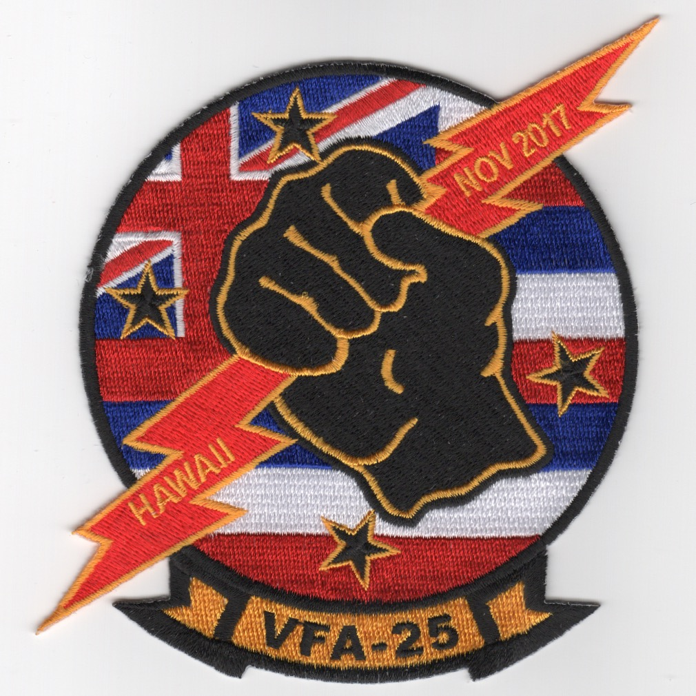 VFA-25 Nov 2017 'Hawaii' Squadron Patch