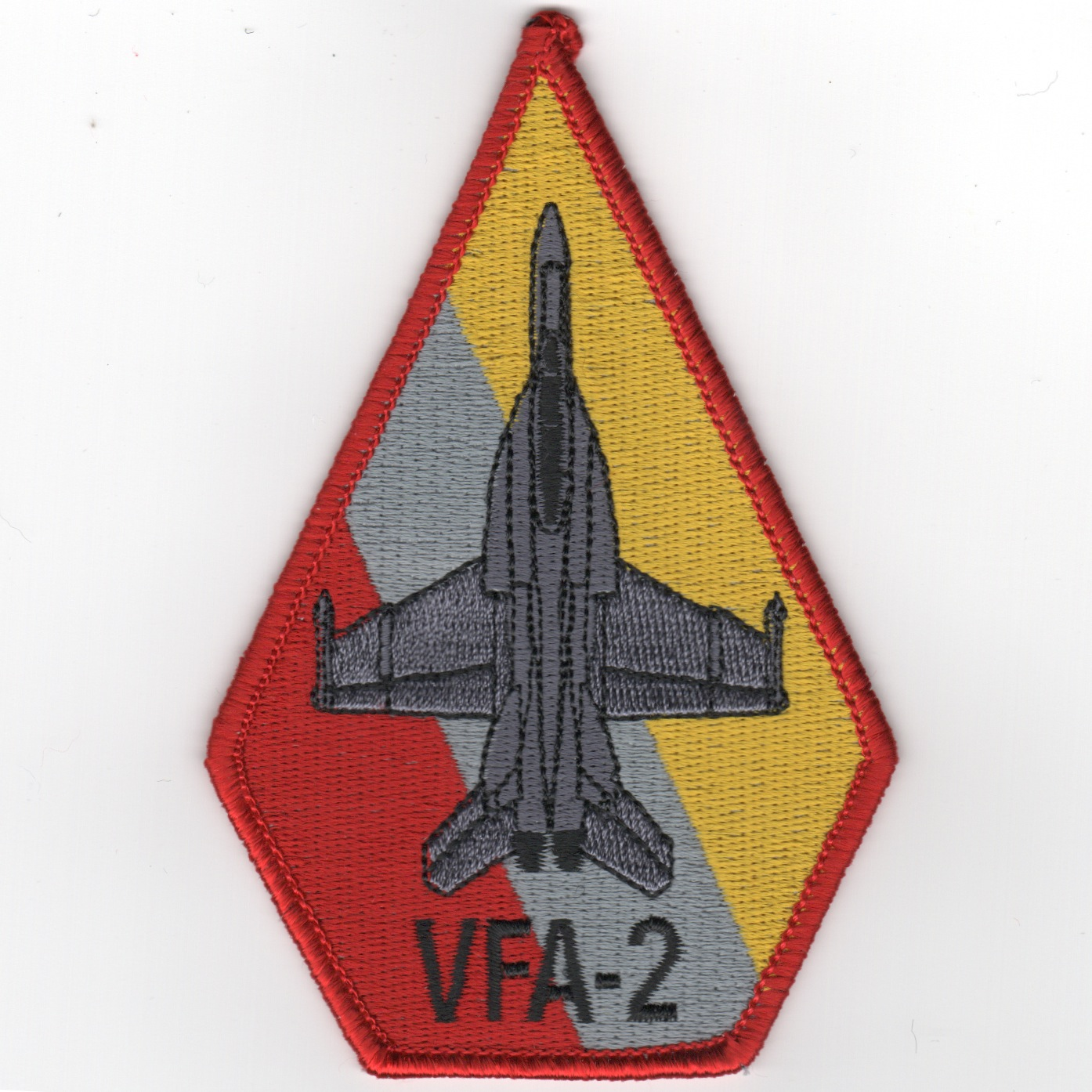 VFA-2 Aircraft 'Coffin' Patch (R/Gry/Ylw)