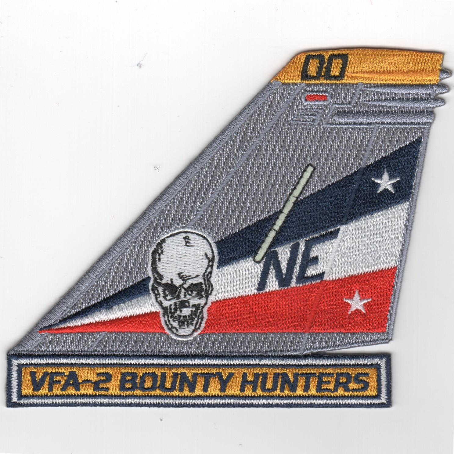 VFA-2 TailFin (Gray/Yellow Letters/Yellow Tip)
