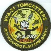 VF-31 F/A-18F Weapons Patch (Black-Round)