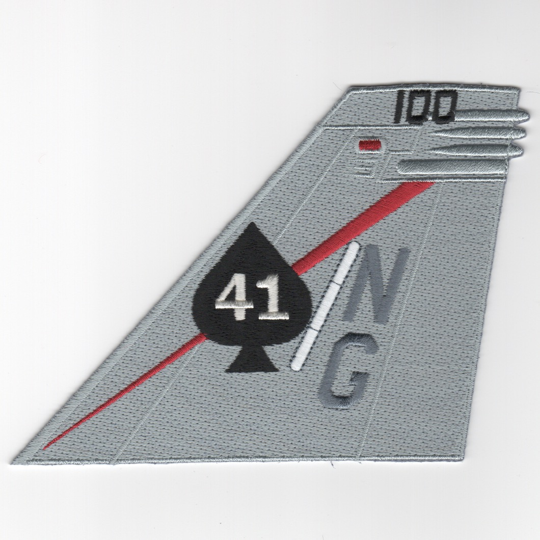VFA-41 'NG' TAILFIN Patch (Gray)