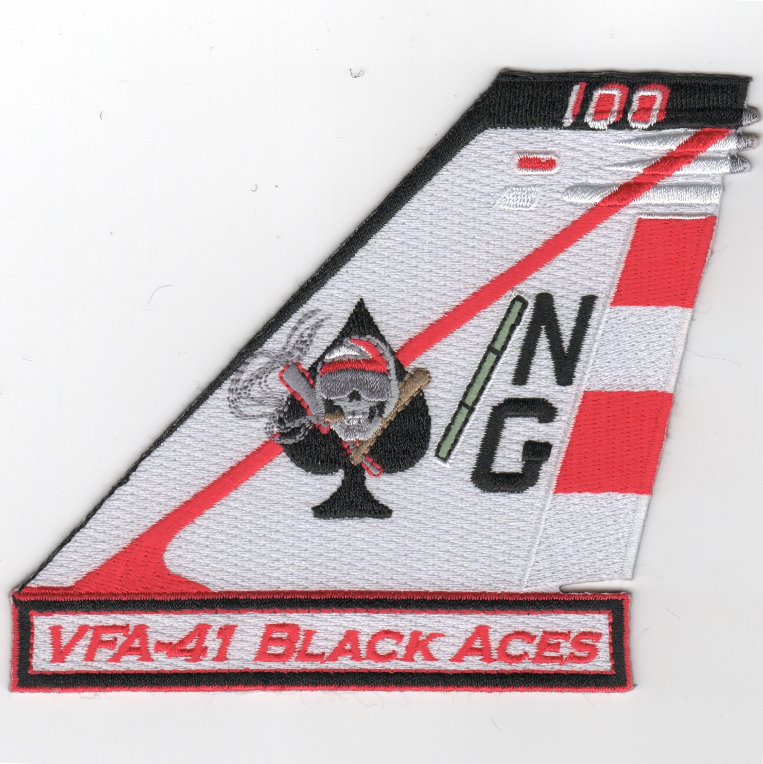 VFA-41 TAILFIN Patch (White)