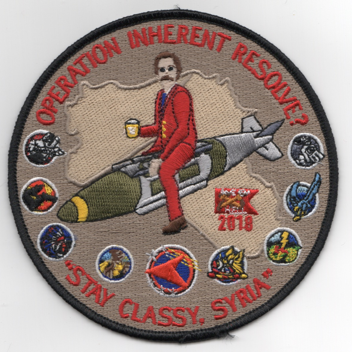 VFA-81 2018 OIR 'STAY CLASSY' Cruise Patch