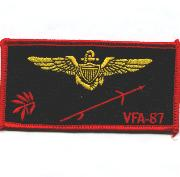 VFA-87 Pilot Nametag (Black)