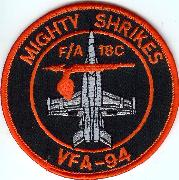 VFA-94 A/C 'Bullet' Patch (Round)