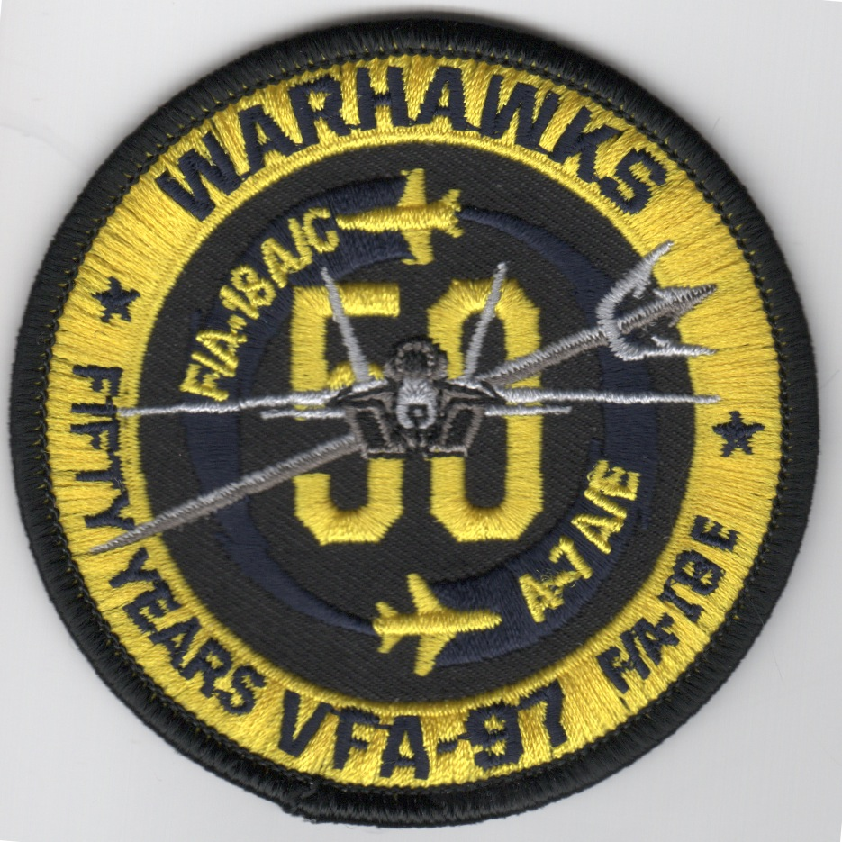 VFA-97 '50th Anniv' Bullet Patch (No Velcro)
