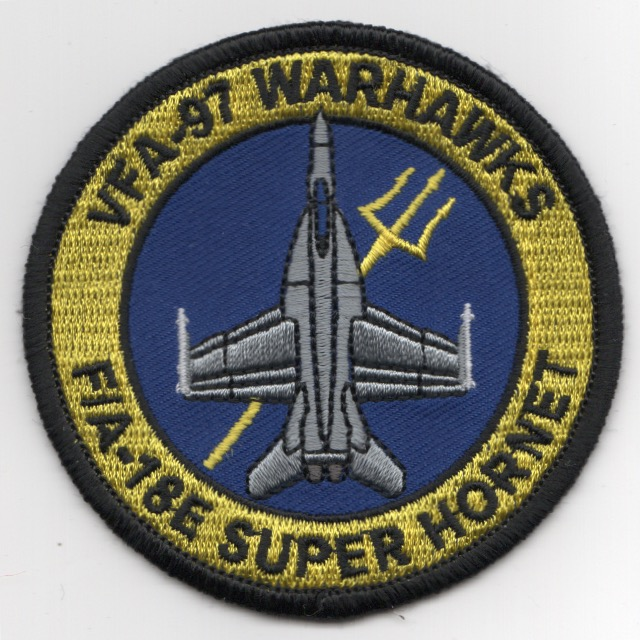 VFA-97 F-18E 'Bullet' Patch (LIGHT Yellow/Blue)
