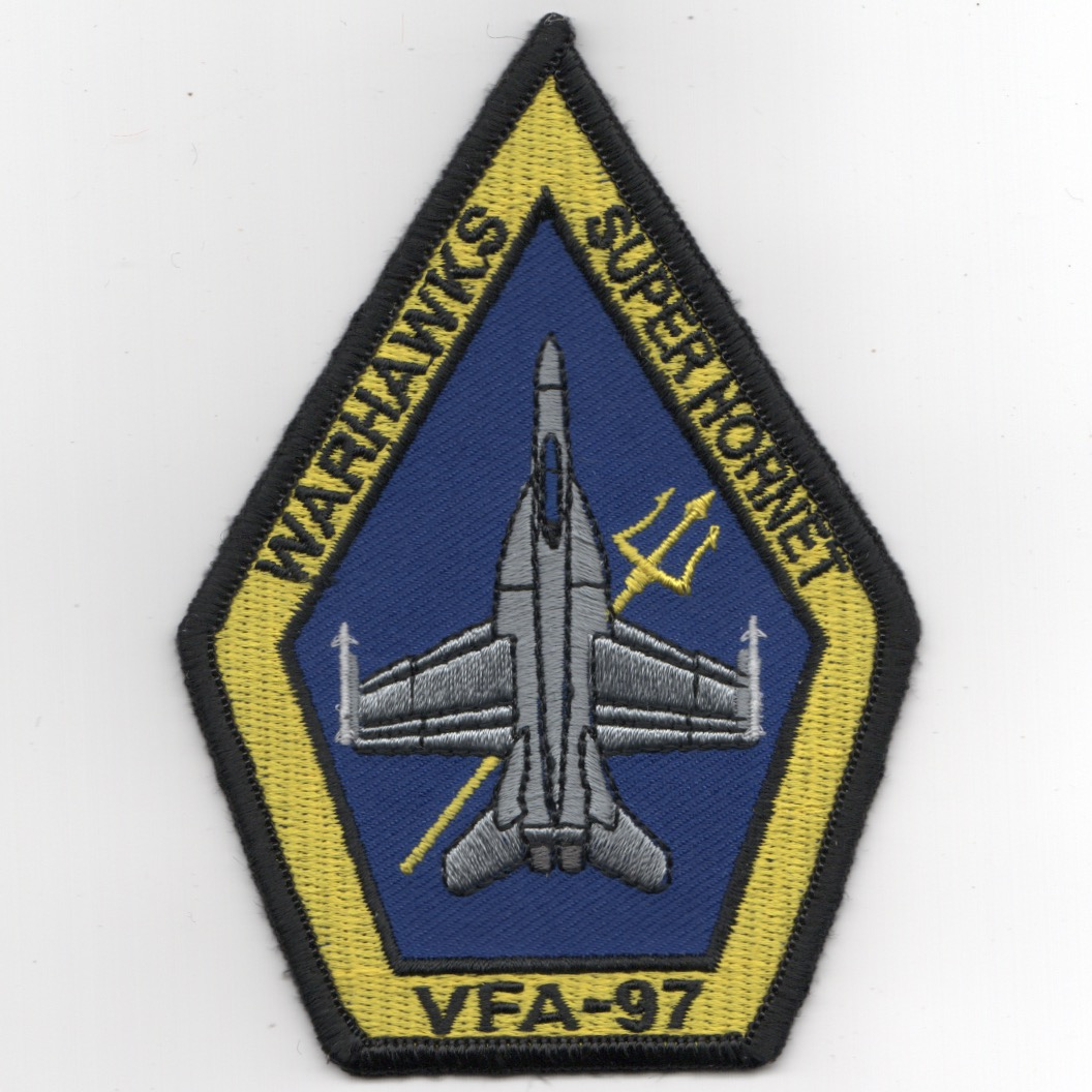VFA-97 F-18E 'Coffin' Patch (LIGHT Yellow/Blue)