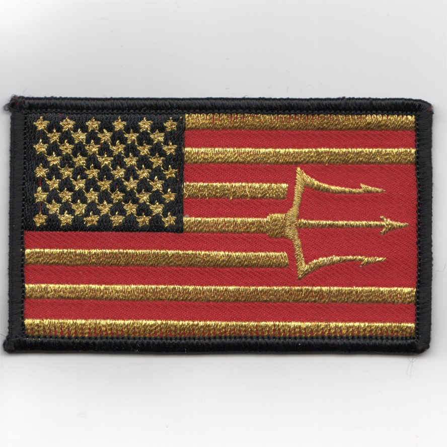 VFA-97 'TRIDENT' Flag Patch (GOLD)